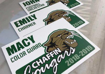 pac printers, outdoor signage, sports teams, football stadiums, corrugated plastic signs, team spirit