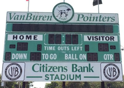 pac printers, outdoor signage, sports teams, football stadiums