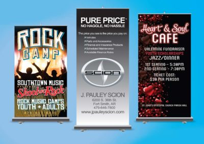 pac printers, indoor signs, retractable tabletop signs, digitally printed, trade show signs